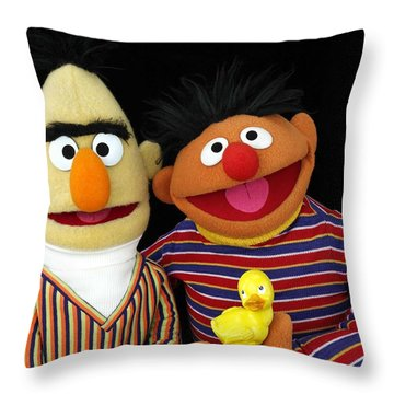 Bert And Ernie Throw Pillow