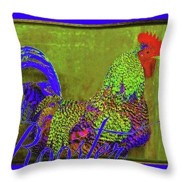 Bert The Rooster Throw Pillow