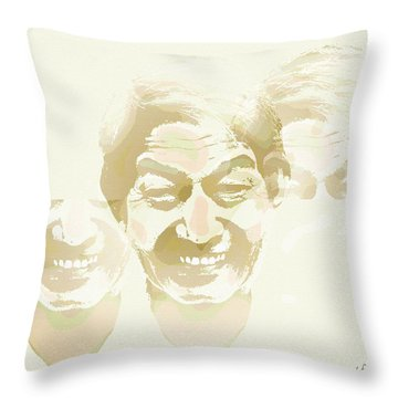 Beside Himself Throw Pillow