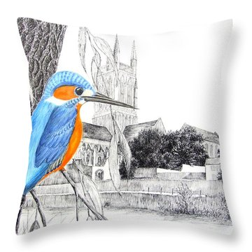 Beside The River Throw Pillow