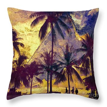 Beside The Sea Throw Pillow
