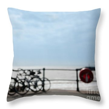 Throw Pillow featuring the photograph Beside The Seaside #6 by Jan Bickerton