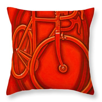 Bespoked In Orange  Throw Pillow