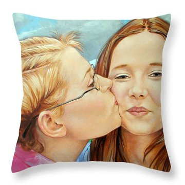 Best Buds Throw Pillow by Jerrold Carton