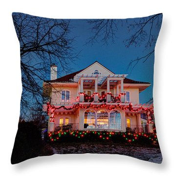 Best Christmas Lights Lake Of The Isles Minneapolis Throw Pillow