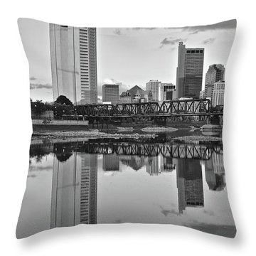 Throw Pillow featuring the photograph Best Columbus Black And White by Frozen in Time Fine Art Photography