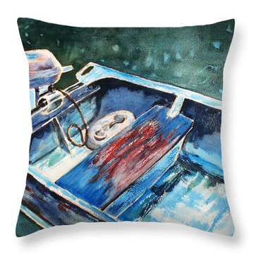 Best Fishing Buddy Throw Pillow by Marilyn Jacobson