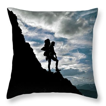 Best Foot Forward Throw Pillow