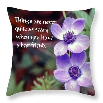 Best Friend Throw Pillow by Gary Wonning