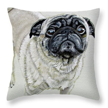 Throw Pillow featuring the painting Best Friend by Jimmie Bartlett