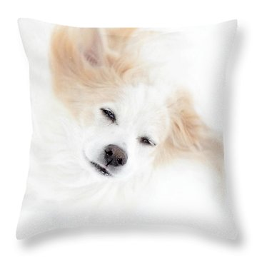 Best Friend Throw Pillow by Sue Stefanowicz