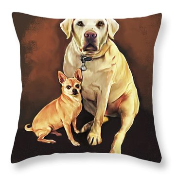Best Friends By Spano Throw Pillow by Michael Spano