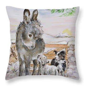 Best Friends Throw Pillow by Diane Matthes