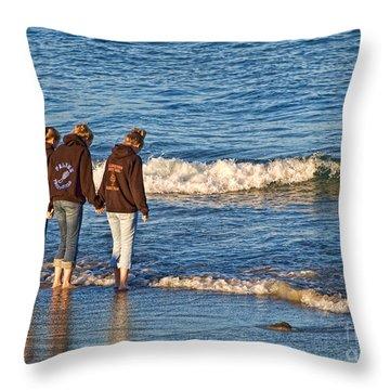 Best Friends Throw Pillow by Edward Sobuta