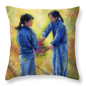 Best Friends Throw Pillow by Retta Stephenson
