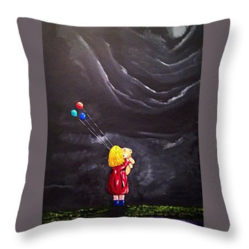 Throw Pillow featuring the painting Best Friends by Scott Wilmot