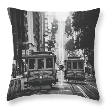 Best Of San Francisco Throw Pillow by JR Photography