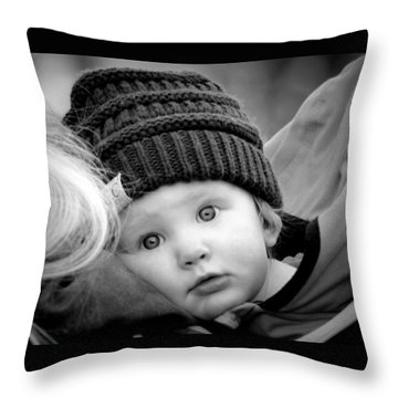 Throw Pillow featuring the photograph Best Seat In The House by Barbara Dudley