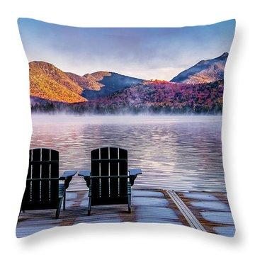 Best Seats In The Adirondacks Throw Pillow