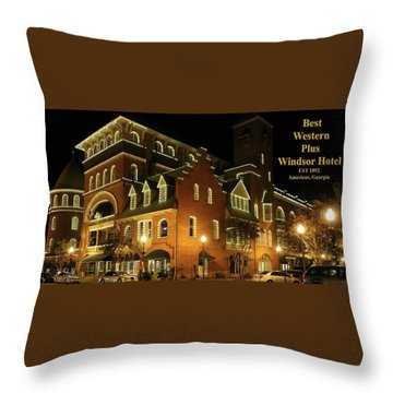 Best Western Plus Windsor Hotel - Christmas -2 Throw Pillow