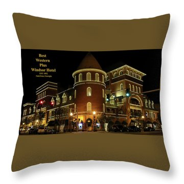 Best Western Plus Windsor Hotel - Christmas Throw Pillow