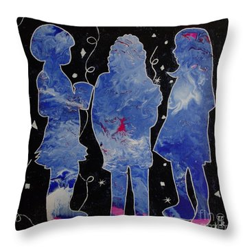 Besties - Party On Throw Pillow