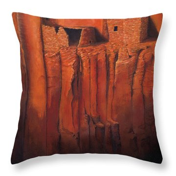 Betatakin Ruins Throw Pillow by Jerry McElroy