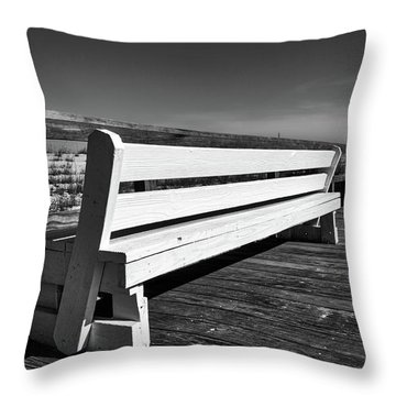 Bethany Beach Boardwalk Throw Pillow