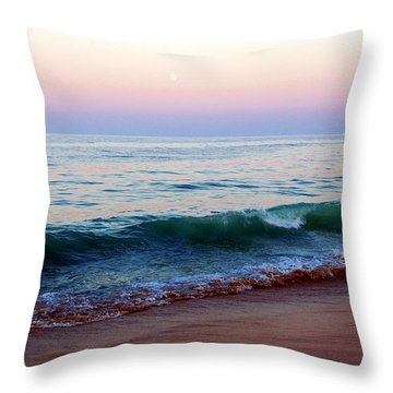 Bethany Pink Sunset Throw Pillow
