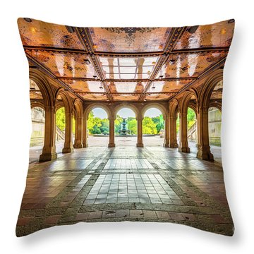 Bethesda Terrace Throw Pillow