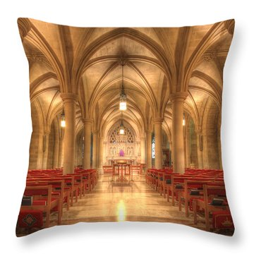 Bethlehem Chapel Washington National Cathedral Throw Pillow