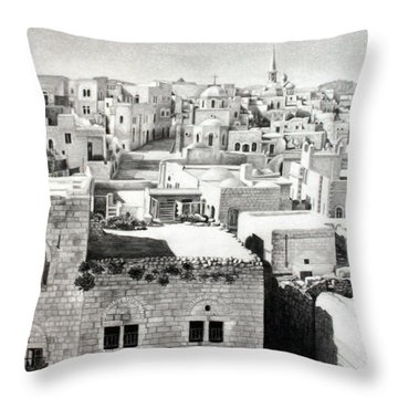 Bethlehem Old Town Throw Pillow by Munir Alawi