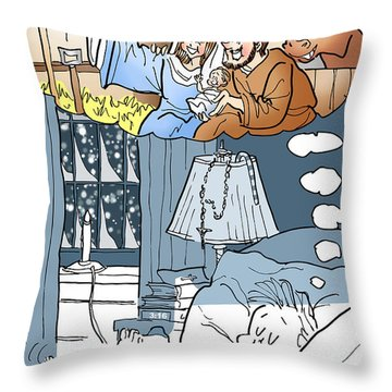 Nativity Selfie Throw Pillow