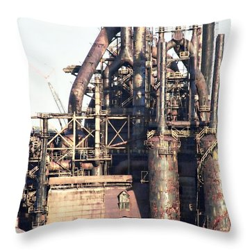 Bethlehem Steel # 14 Throw Pillow