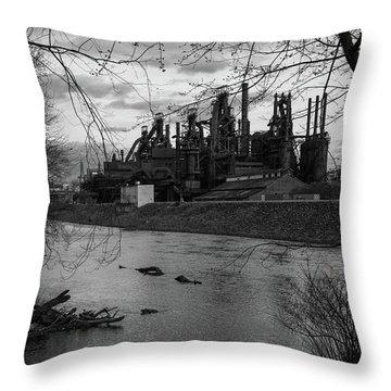 Bethlehem Steel Bw Throw Pillow