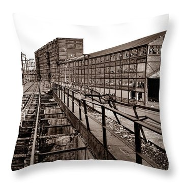 Bethlehem Steel Number Two Machine Shop Throw Pillow
