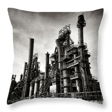 Throw Pillow featuring the photograph Bethlehem Steel by Olivier Le Queinec