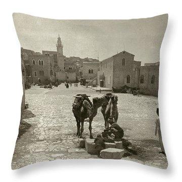 Bethlehem: Street, C1911 Throw Pillow by Granger