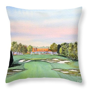 Bethpage State Park Golf Course 18th Hole Throw Pillow