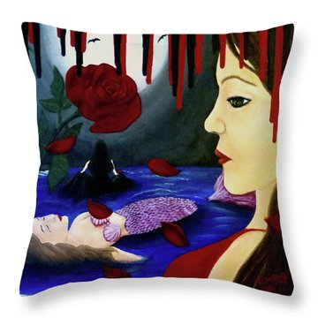 Throw Pillow featuring the painting Betrayal by Teresa Wing