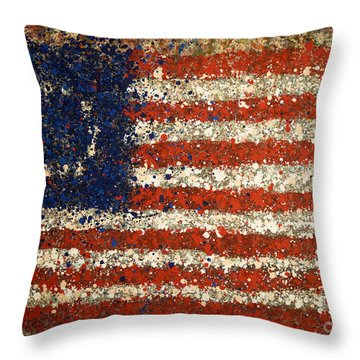 Betsy Ross Flag Number One Throw Pillow