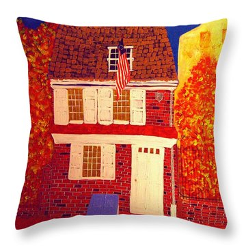 Betsy Ross's House Throw Pillow