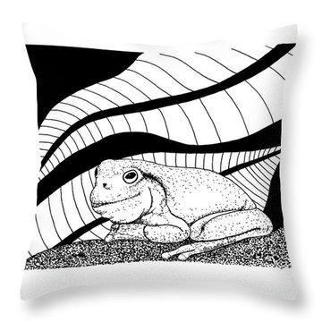Betsy's Frog Throw Pillow by Billinda Brandli DeVillez