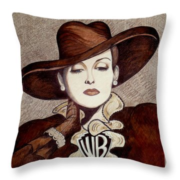 Bette Davis The Warner Brothers Years Throw Pillow