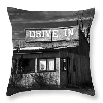 Better Days - An Old Drive-in Throw Pillow