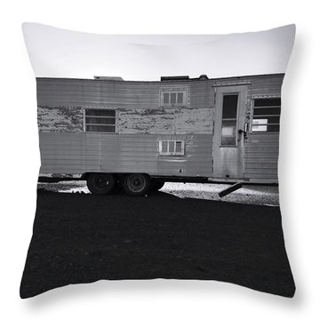 Better Days On Route 66 Throw Pillow