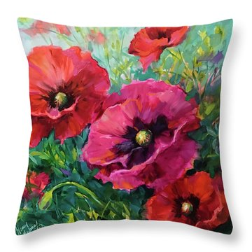 Better Together Poppies Throw Pillow