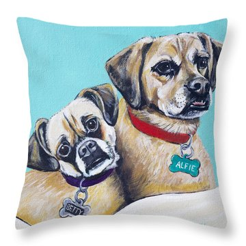 Betty And Alfie Throw Pillow
