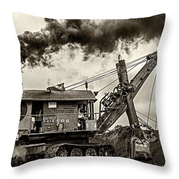 Betty Sue In Bw Throw Pillow