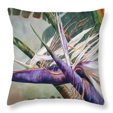 Betty's Bird - Bird Of Paradise Throw Pillow by Roxanne Tobaison
